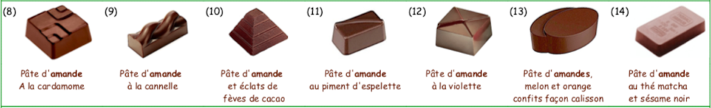 Collection de chocolats à la PÂTE D'AMANDE Vegan Bio