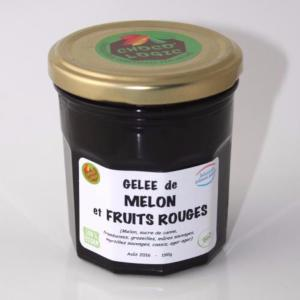 Gelée artisanale Bio de melon et fruits rouges